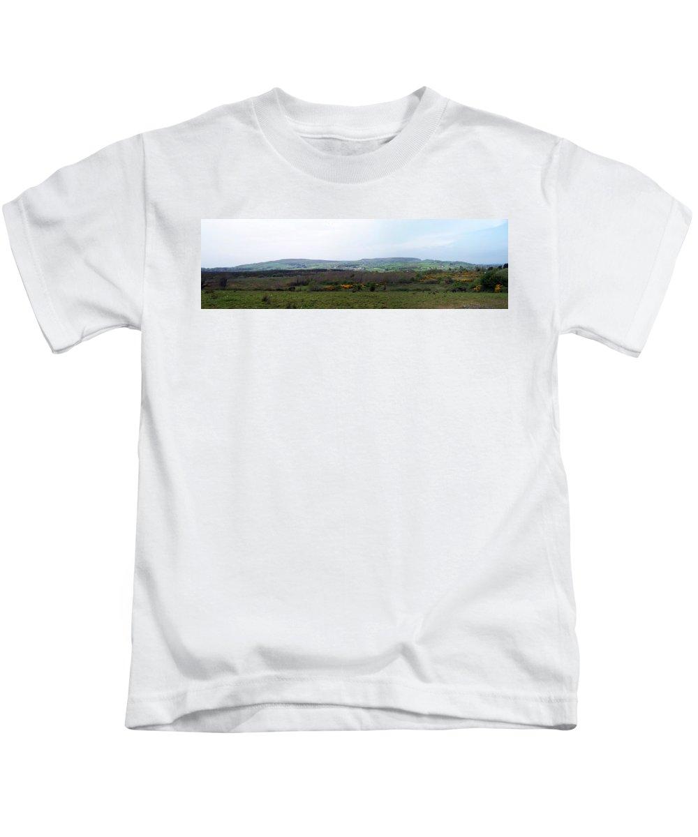 Ireland Kids T-Shirt featuring the photograph Horses At Lough Arrow County Sligo Ireland by Teresa Mucha