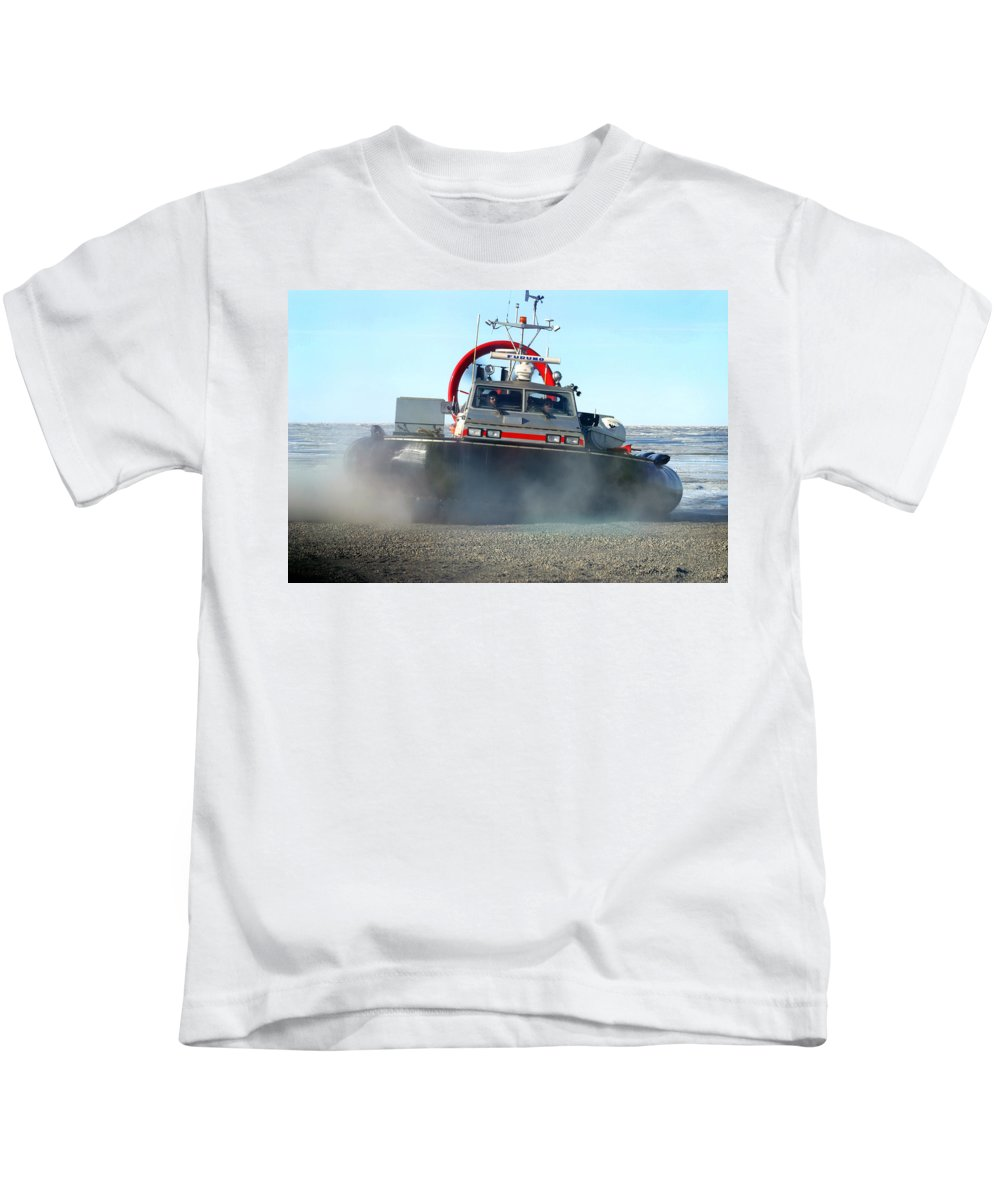 Hover Craft Kids T-Shirt featuring the photograph Hover Craft by Anthony Jones