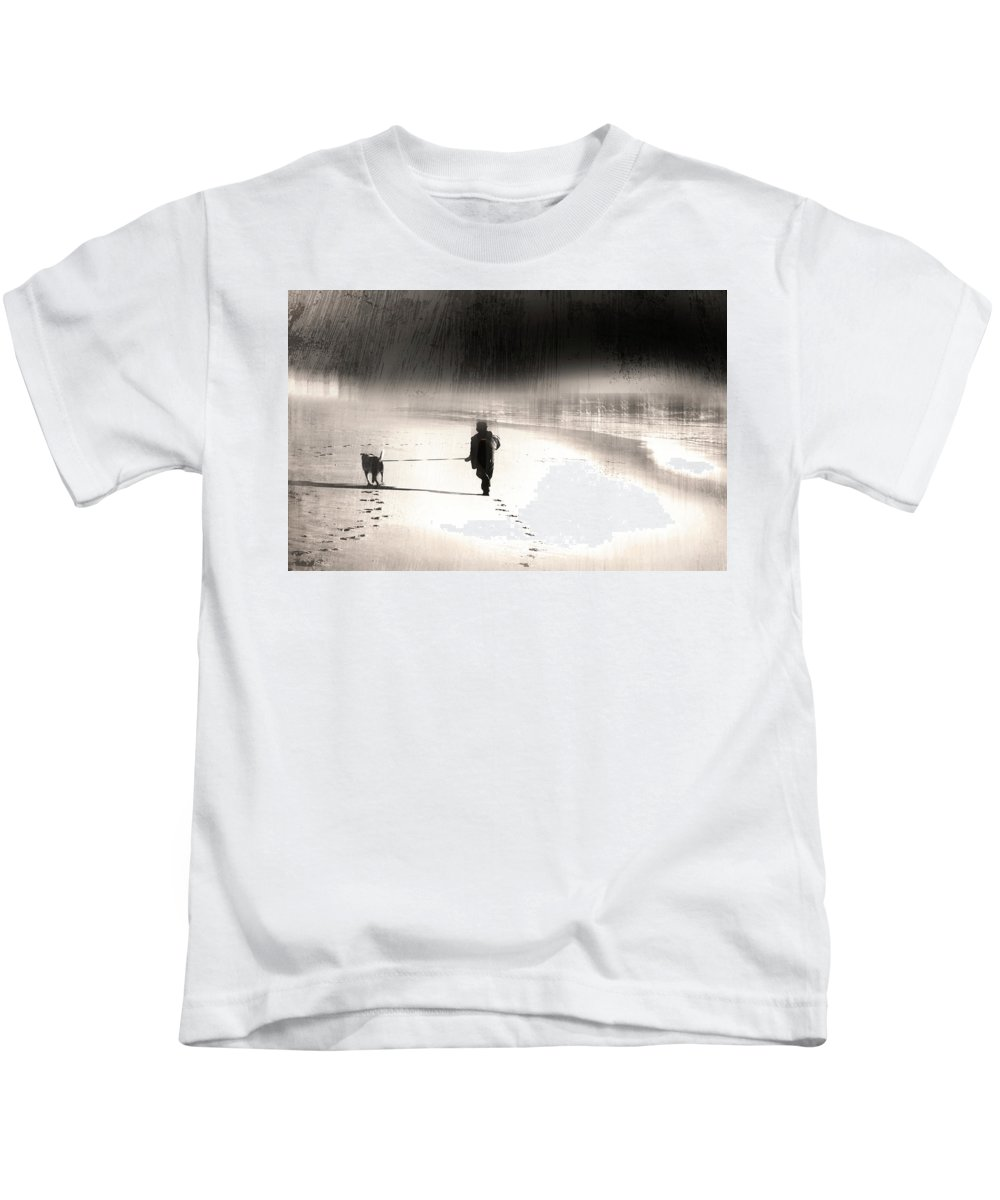 Young Boy Kids T-Shirt featuring the photograph Hurry Home by Gray Artus