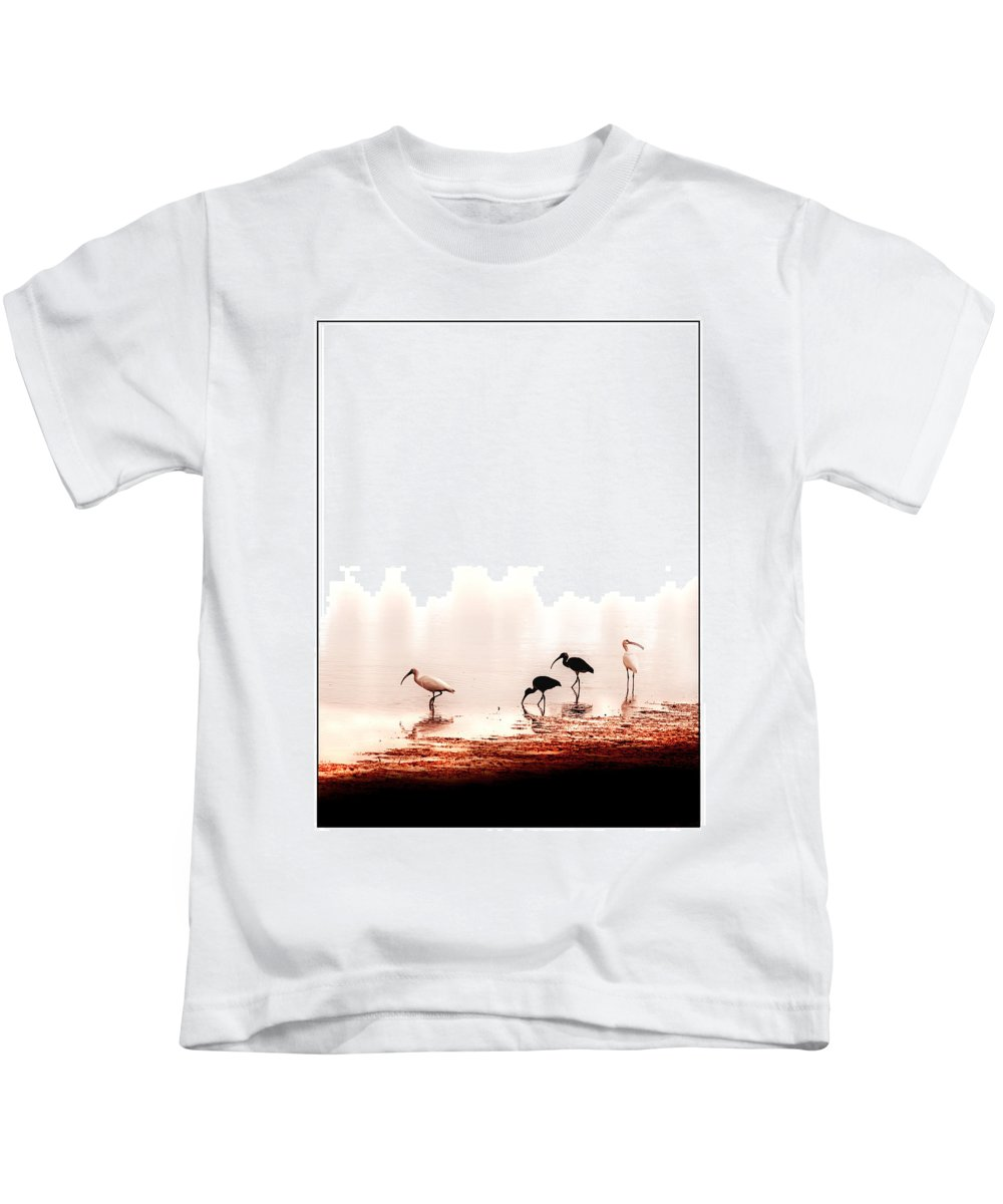 Ibis Kids T-Shirt featuring the photograph Ibis by Mal Bray