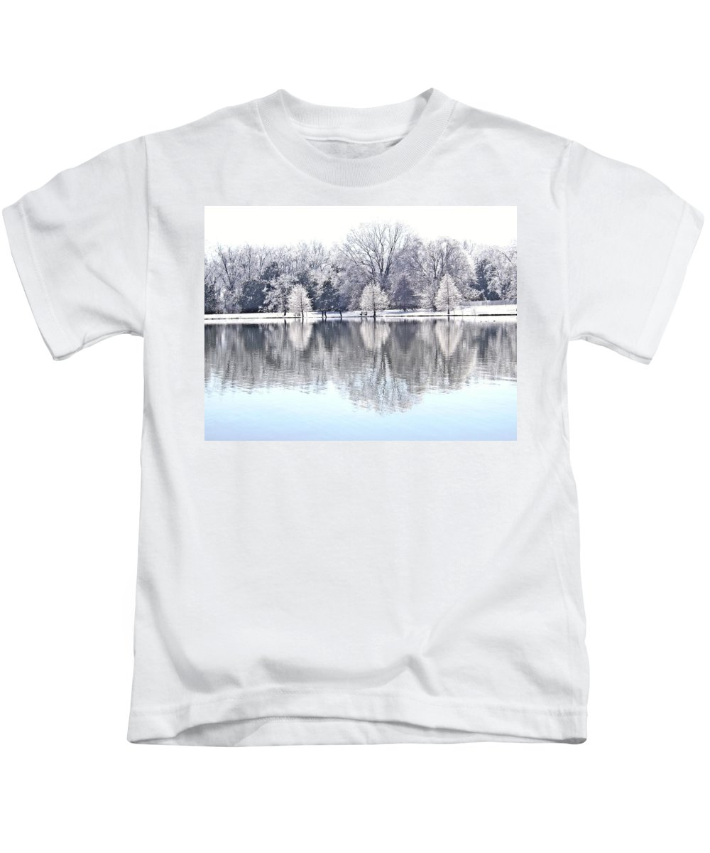 Ice Kids T-Shirt featuring the photograph Ice Park by Charleen Treasures
