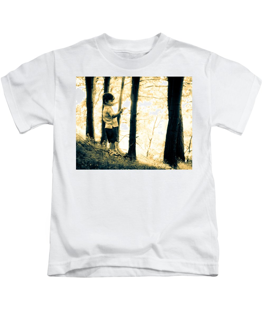 Human Kids T-Shirt featuring the photograph Imagination And Adventure by Bob Orsillo