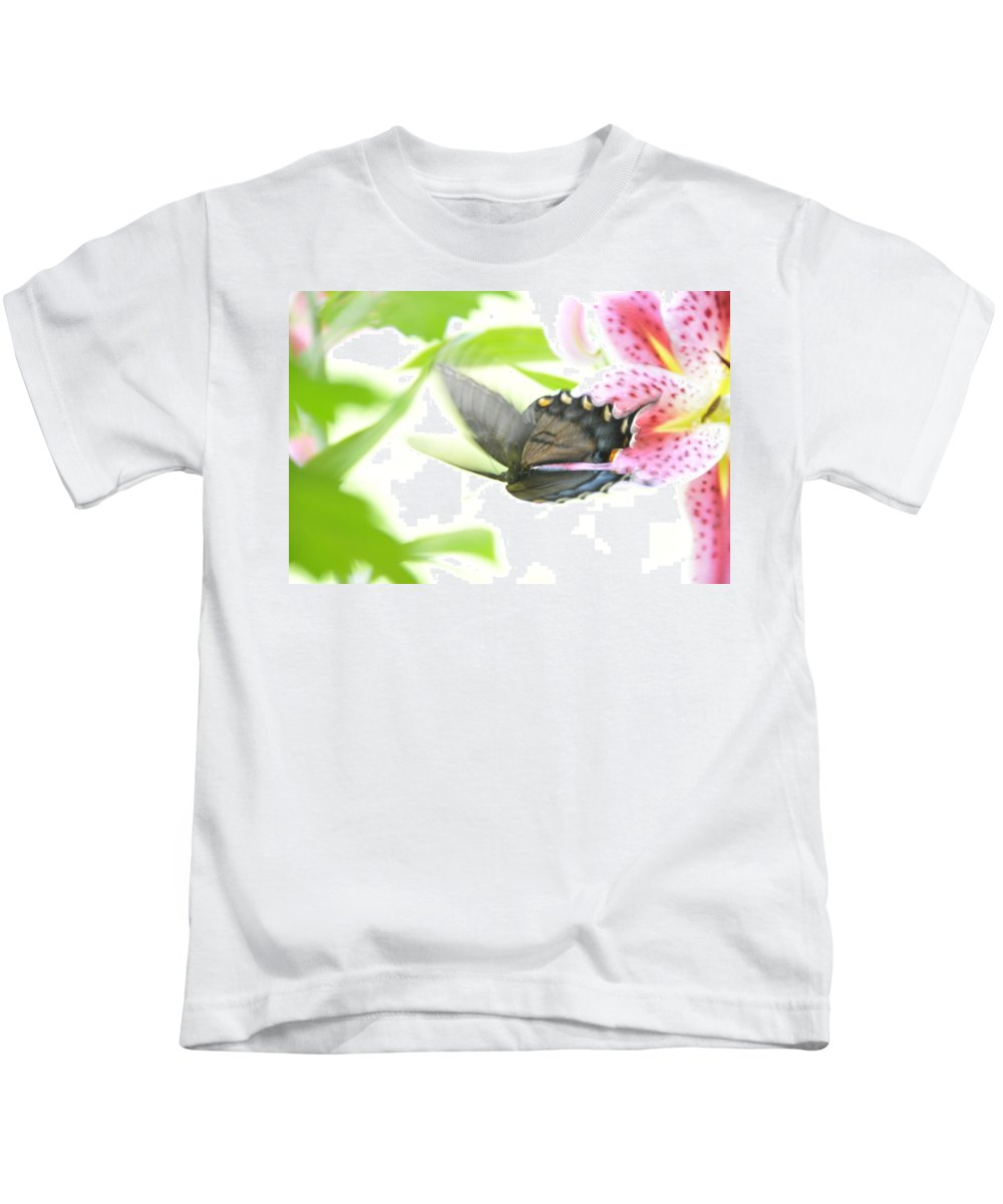 Butterfly Kids T-Shirt featuring the photograph In Flight 1 by David Arment