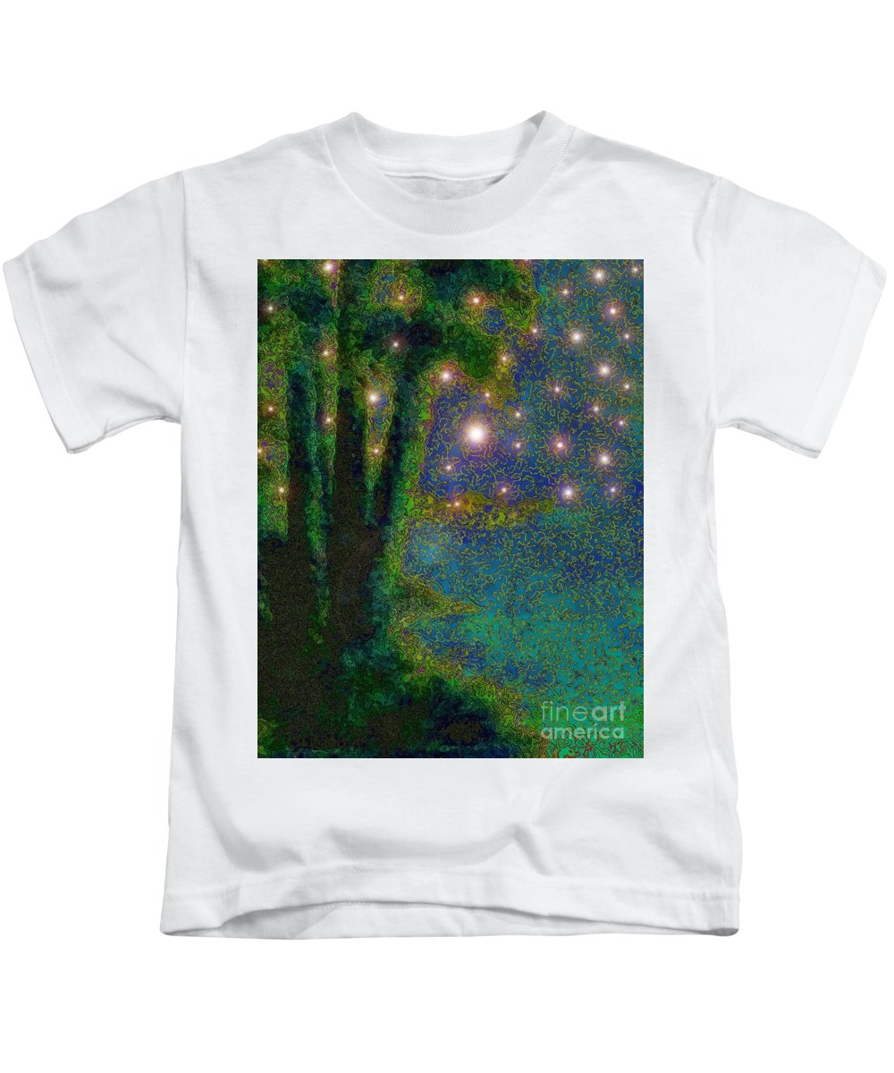 God Kids T-Shirt featuring the painting In The Beginning God... by Hazel Holland