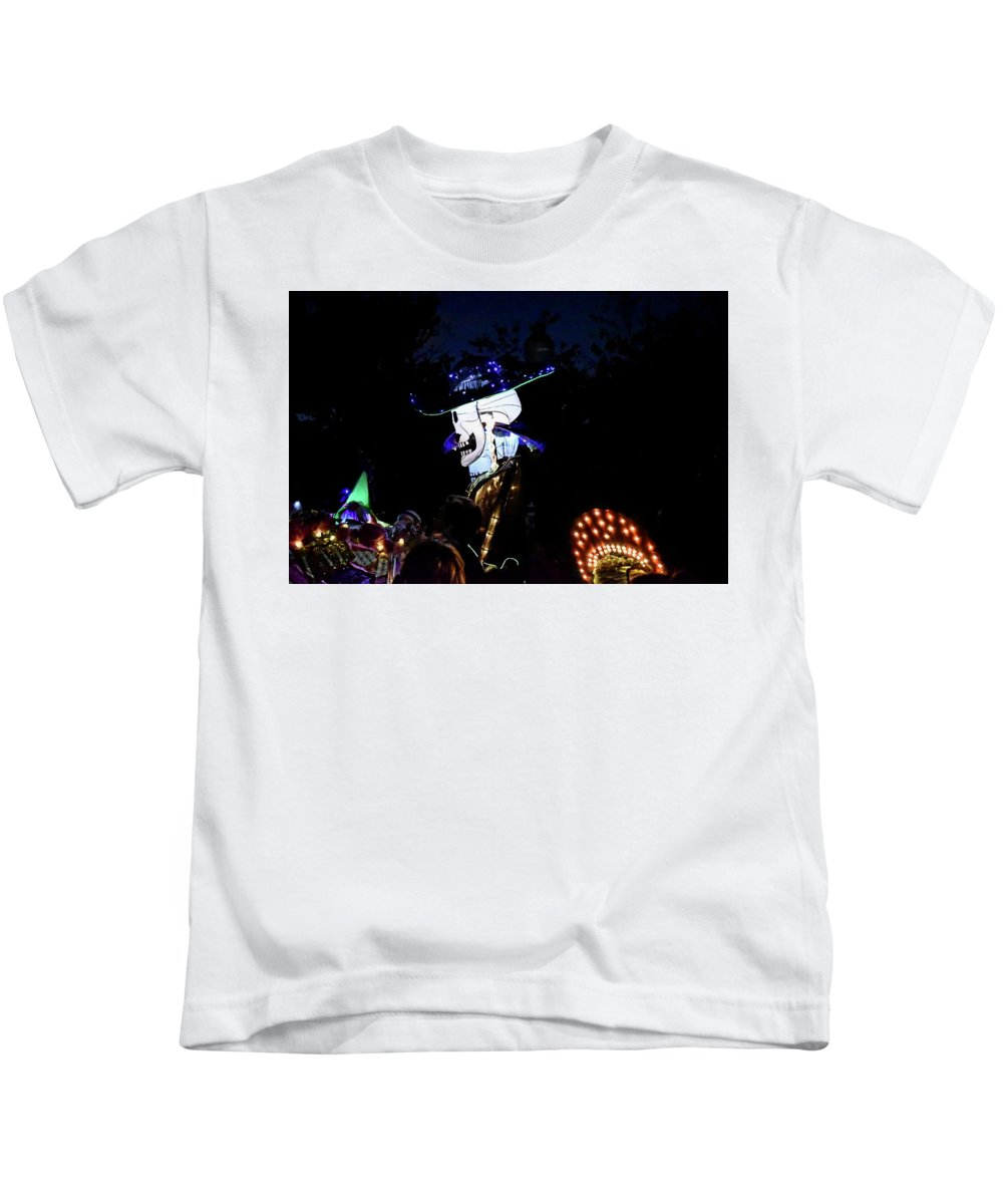 Parade Kids T-Shirt featuring the photograph In The Park In The Dark by Doug Swanson