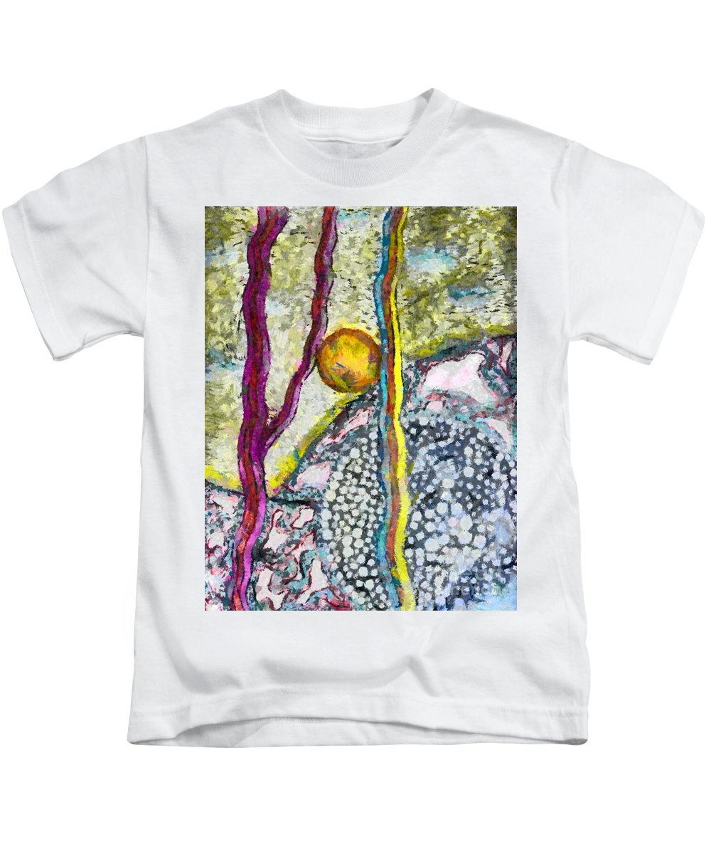 In The Woods And Swamps Sureal Kids T-Shirt featuring the drawing In The Woods And Swamps by Yury Bashkin