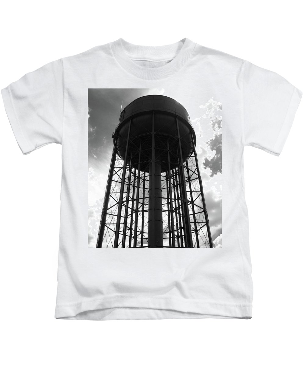 Industrial Kids T-Shirt featuring the photograph Industrial Eclipse by Mary Ellen Frazee