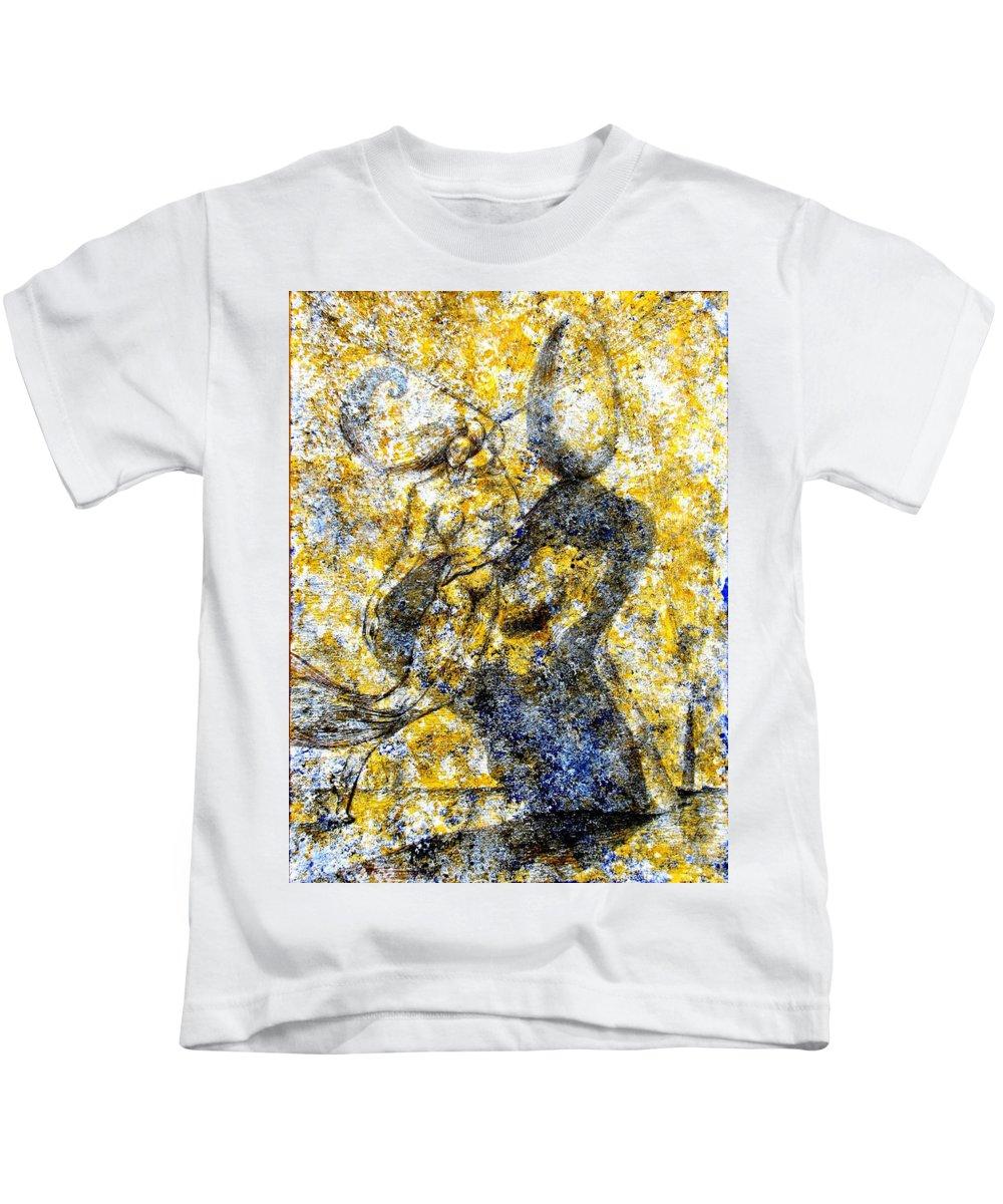 Inga Vereshchagina Kids T-Shirt featuring the painting Infusion by Inga Vereshchagina