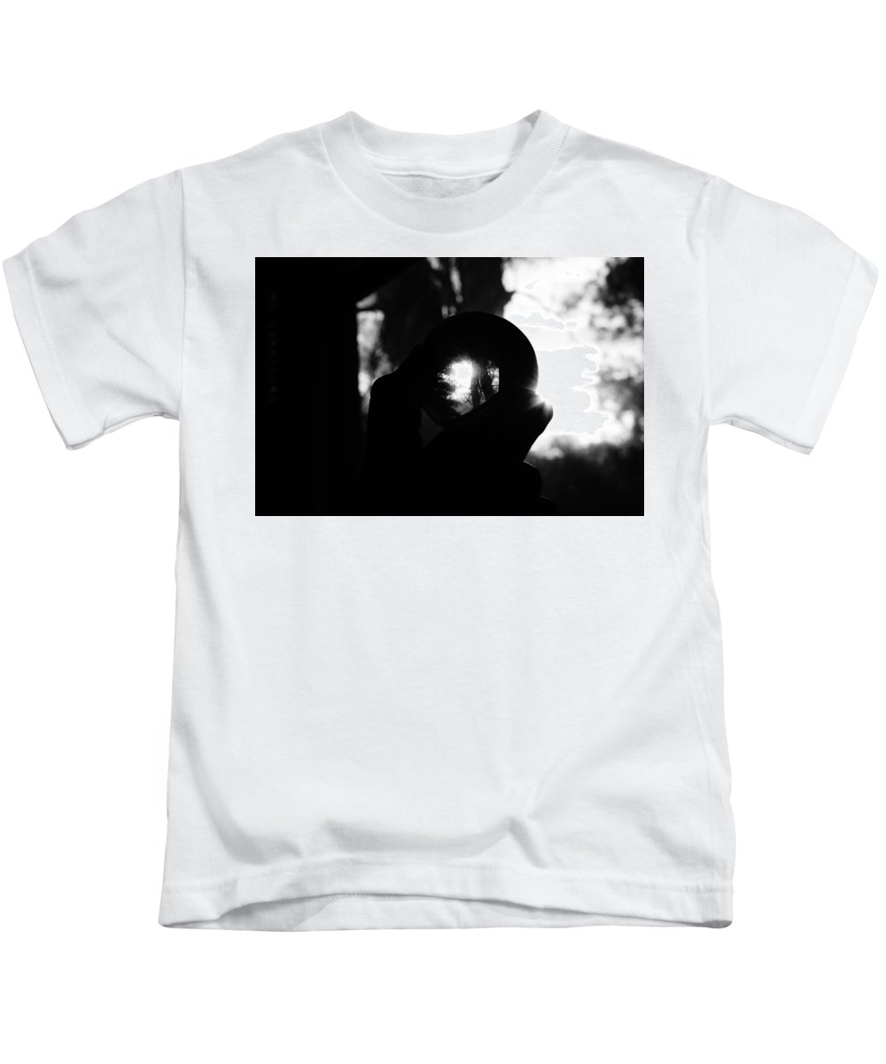 Abstract Kids T-Shirt featuring the photograph Inside Outside by Michael Snow
