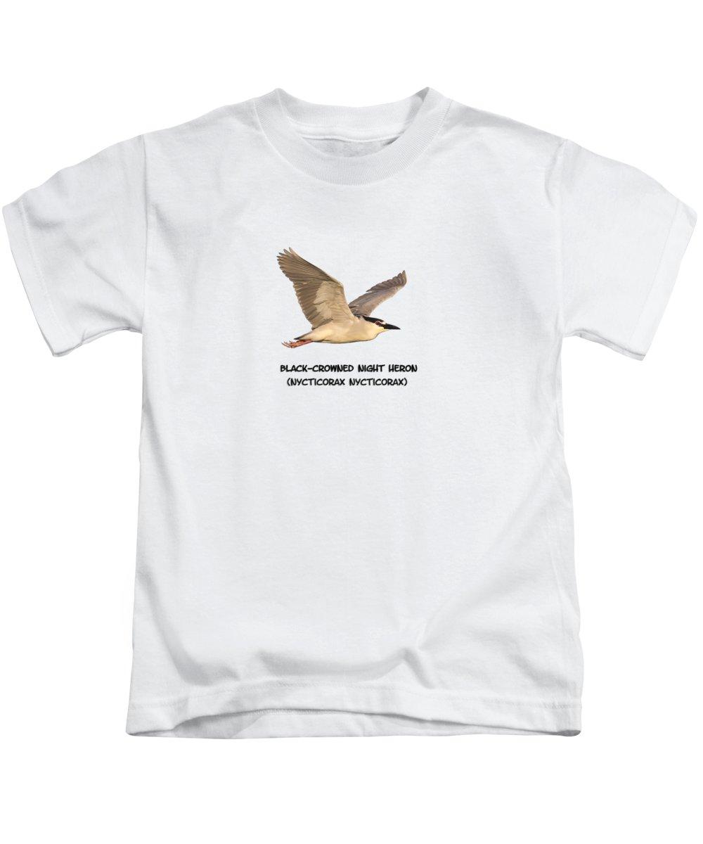 Night Heron Kids T-Shirts