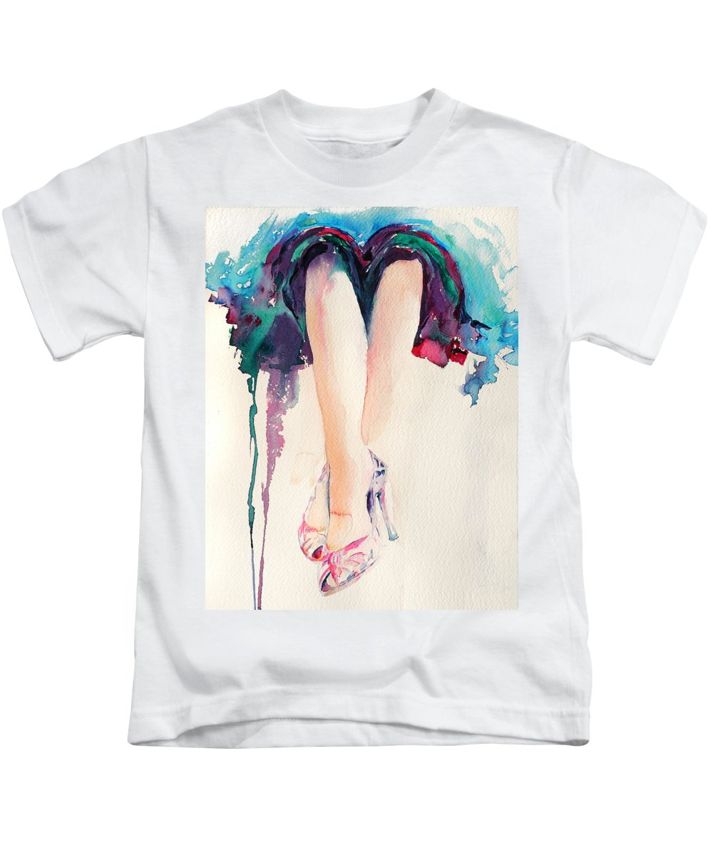 Legs Kids T-Shirt featuring the painting It's Party Time by Stephie Butler