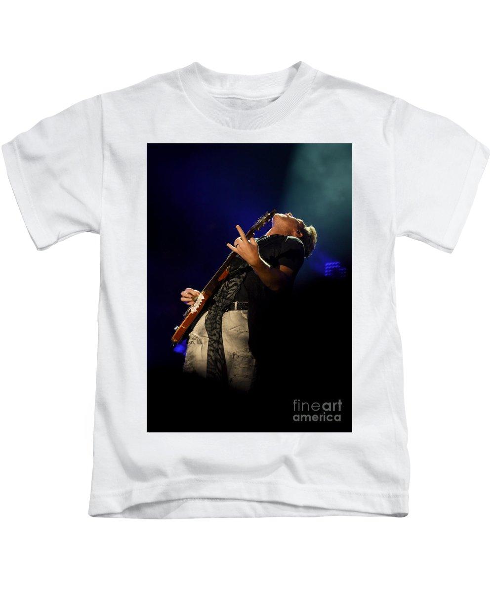Rascal Flatts Kids T-Shirt featuring the photograph J D Rooney Of Rascal Flatts by Ken Howard