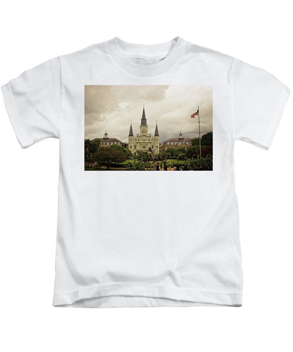 Jackson Square Kids T-Shirt featuring the photograph Jackson Square by Fred Hahn