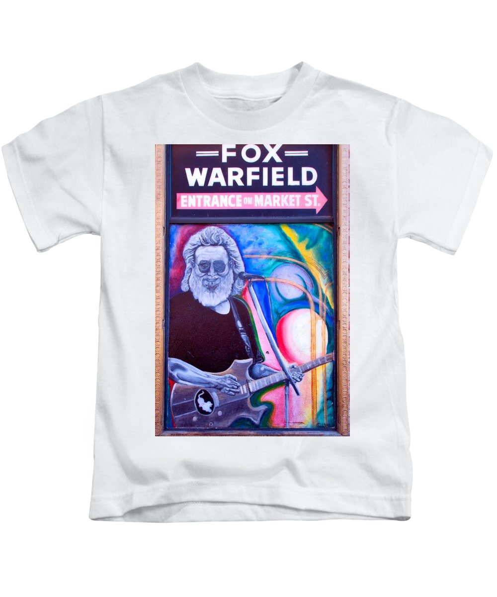 Jerry Garcia Kids T-Shirt featuring the photograph Jerry Garcia - San Francisco by Mountain Dreams
