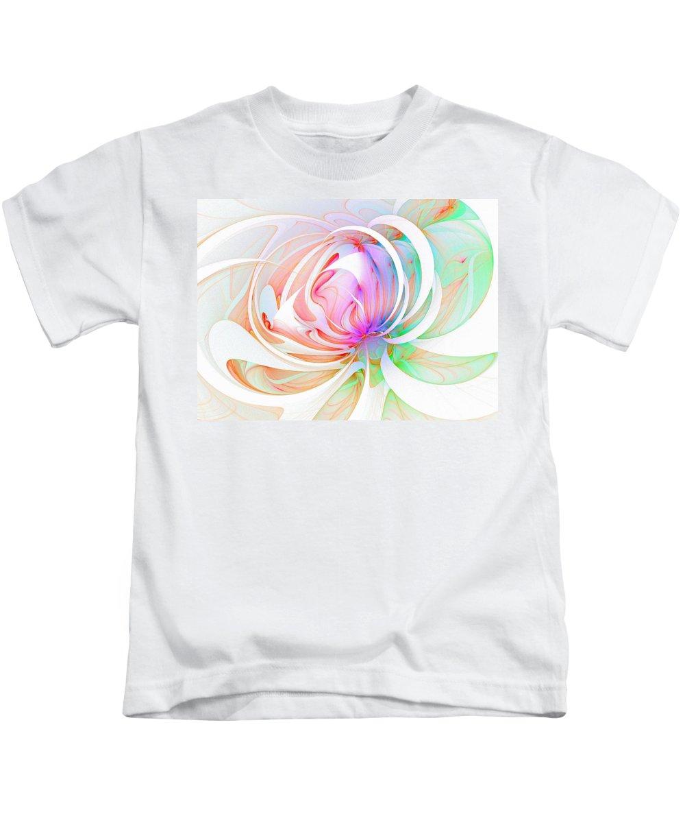 Digital Art Kids T-Shirt featuring the digital art Joy by Amanda Moore