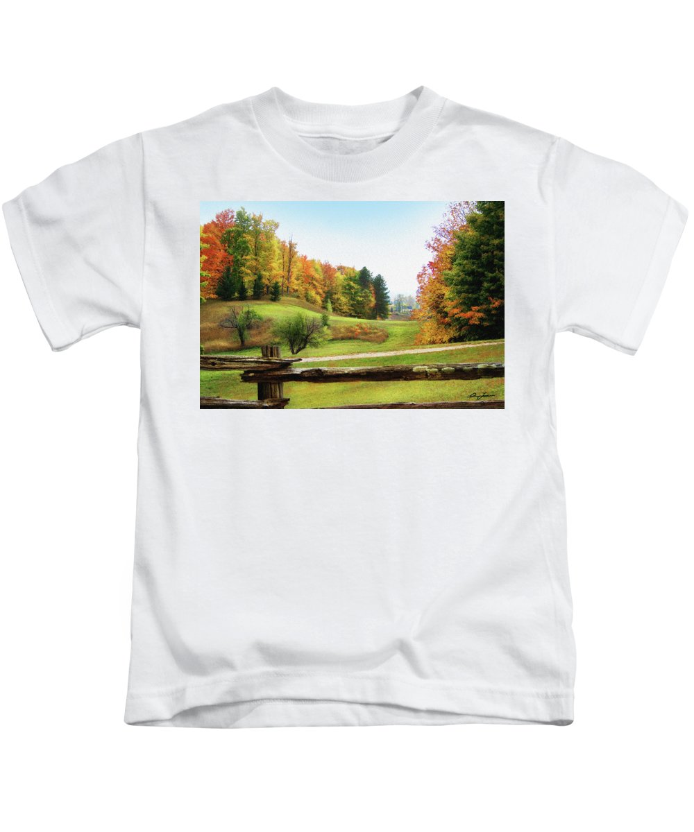 Digital Kids T-Shirt featuring the photograph Just Over The Next Ridge by Ann Lauwers