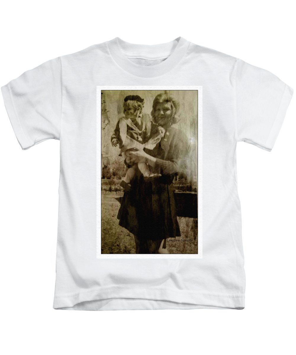 Expressive Kids T-Shirt featuring the photograph Kathy Holding Kelly by Lenore Senior