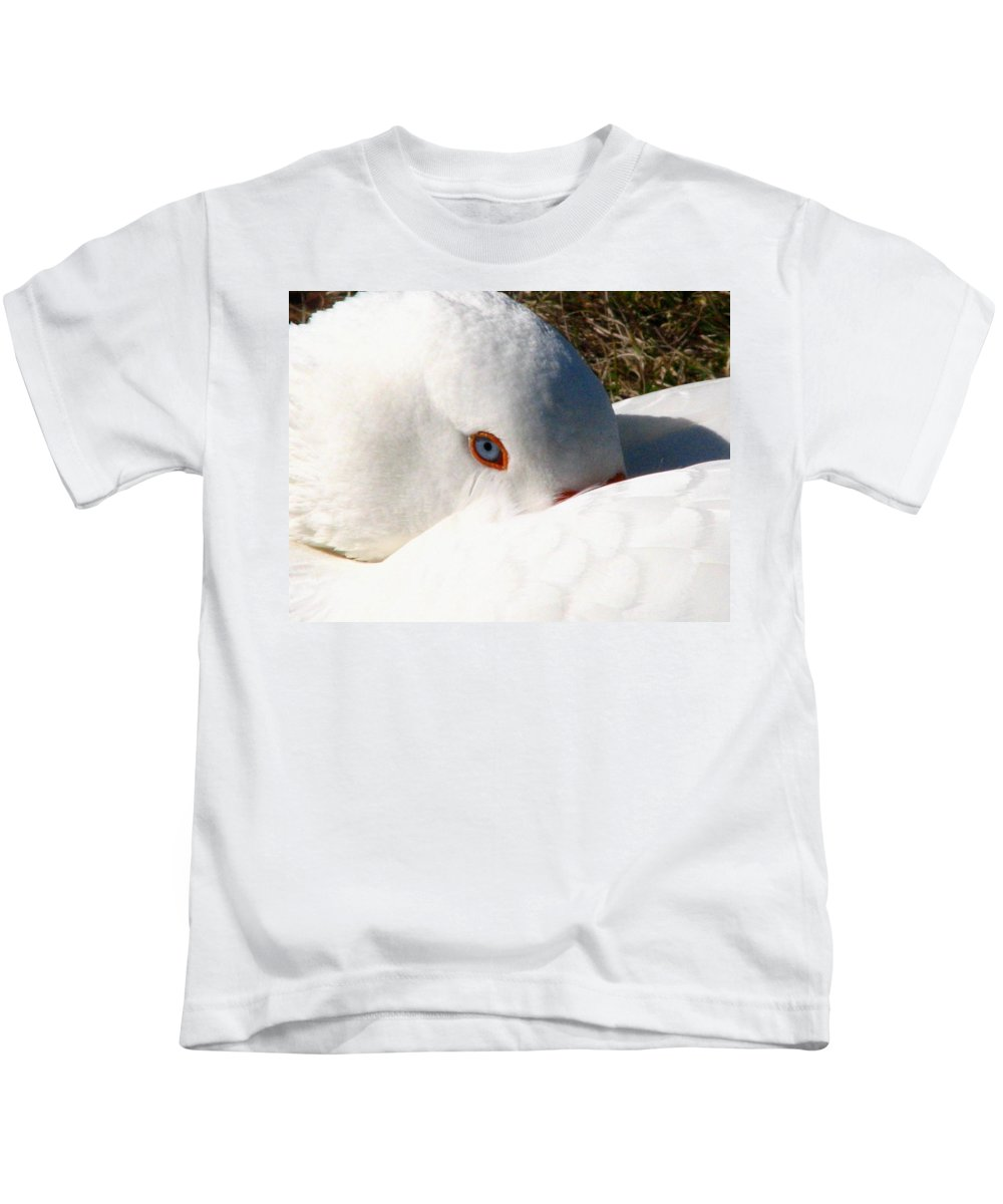 Geese Kids T-Shirt featuring the photograph Keeping A Watchful Eye by J M Farris Photography