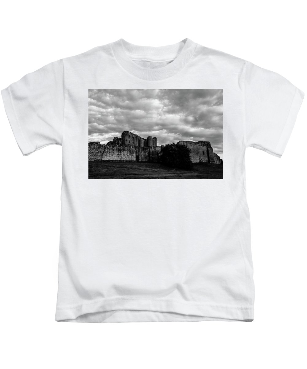 B&w Kids T-Shirt featuring the photograph Kenilworth Castle 2 by Sol Revolver