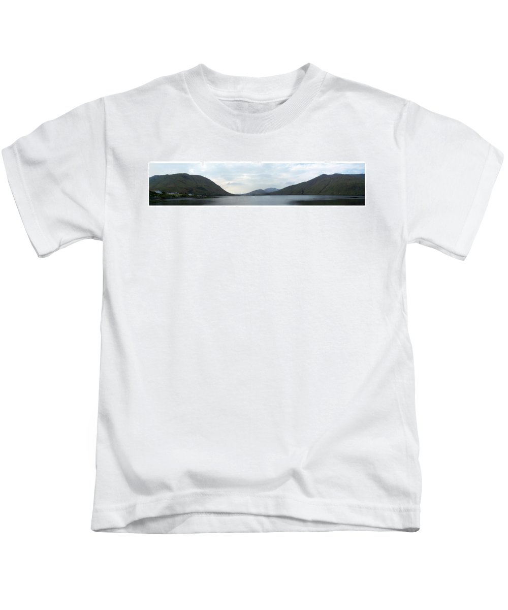 Landscape Kids T-Shirt featuring the photograph Killary Harbour Leenane Ireland by Teresa Mucha