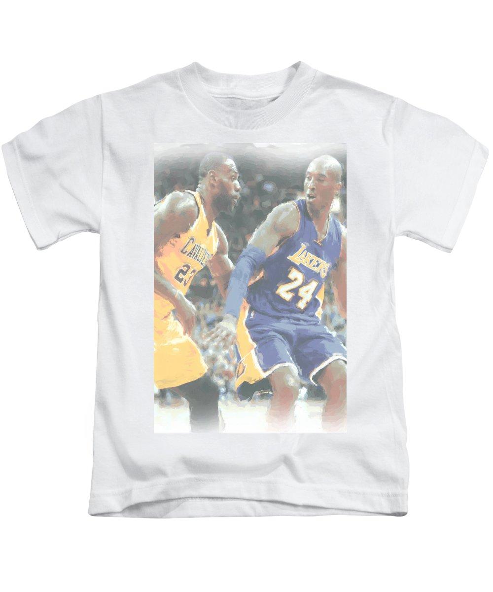 quality design c7f28 fa21c Kobe Bryant Lebron James 2 Kids T-Shirt
