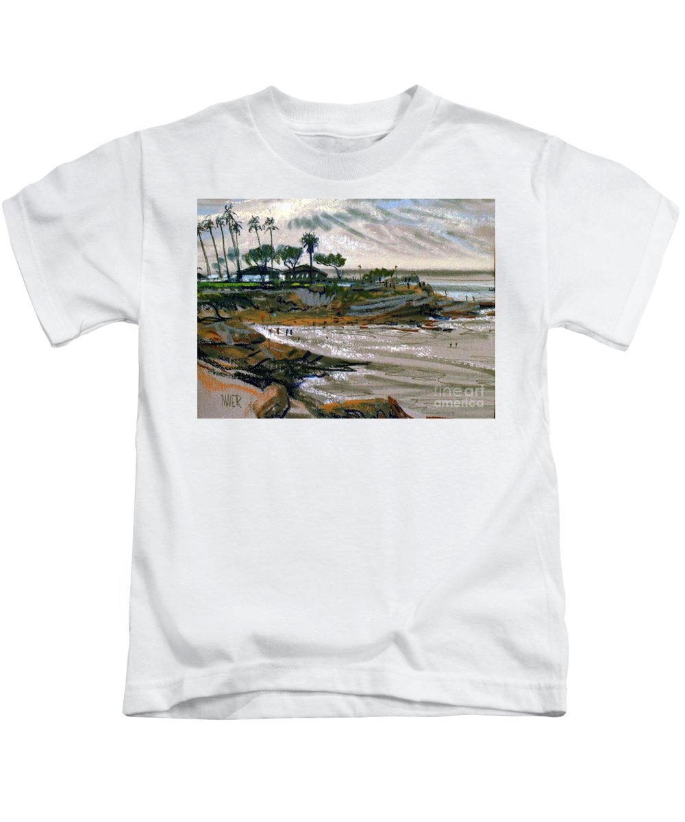 Laguna Beach Kids T-Shirt featuring the painting Laguna Beach 91 by Donald Maier