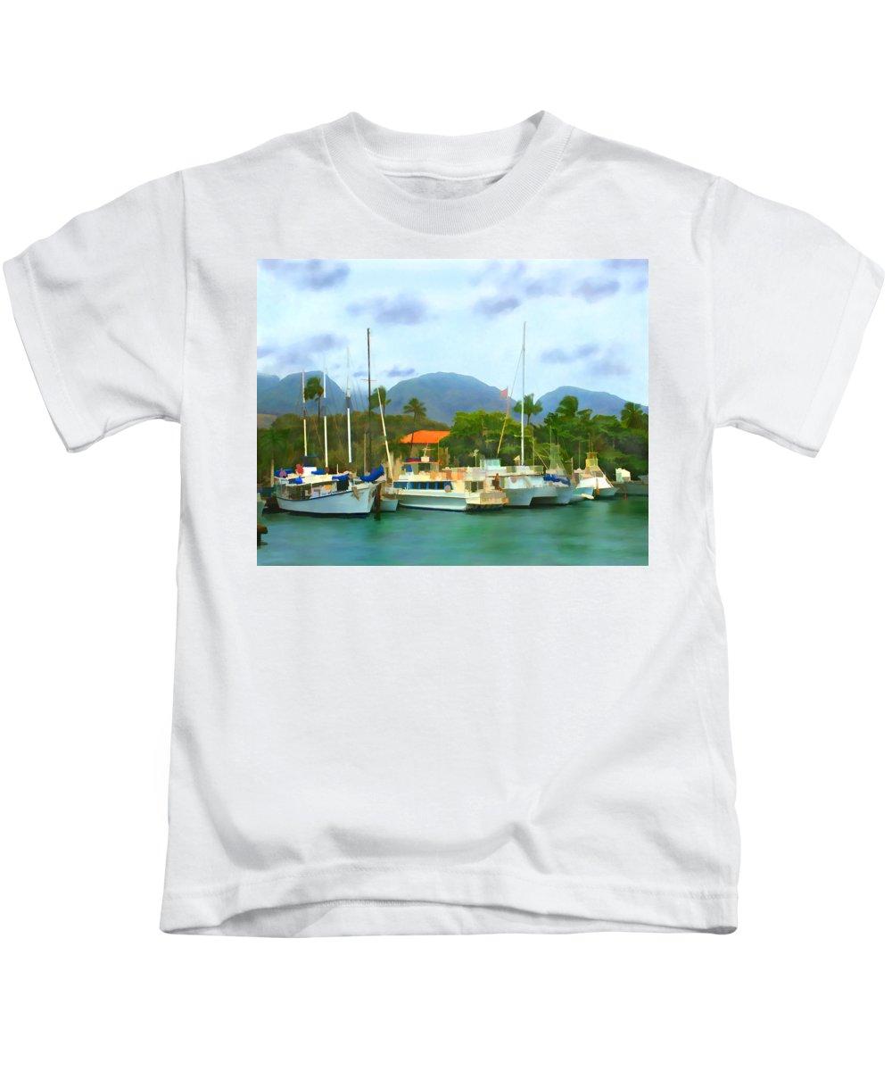 Lahina Kids T-Shirt featuring the photograph Lahina Harbor by Kurt Van Wagner