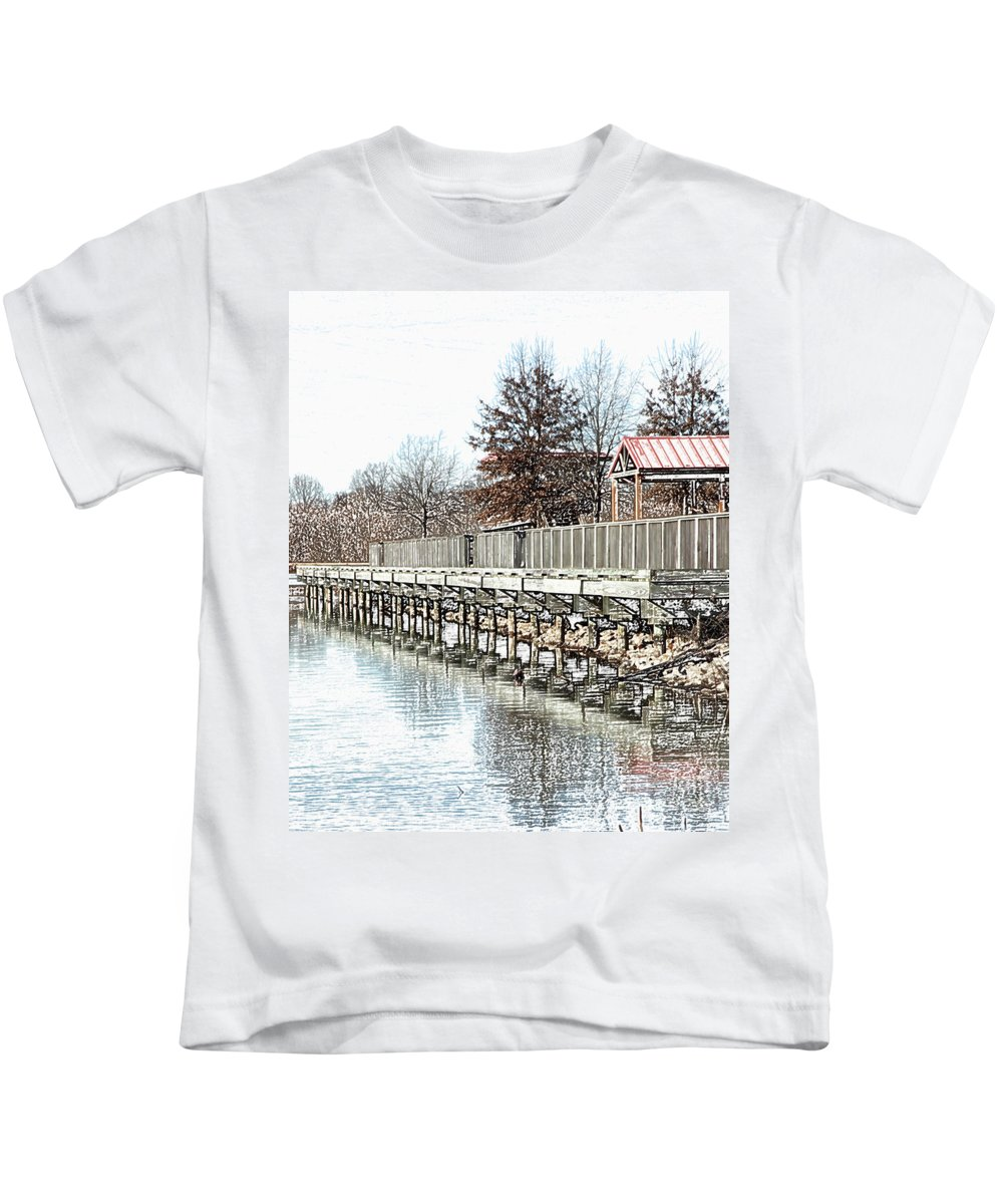 Lakes Kids T-Shirt featuring the photograph Lake by Amanda Barcon