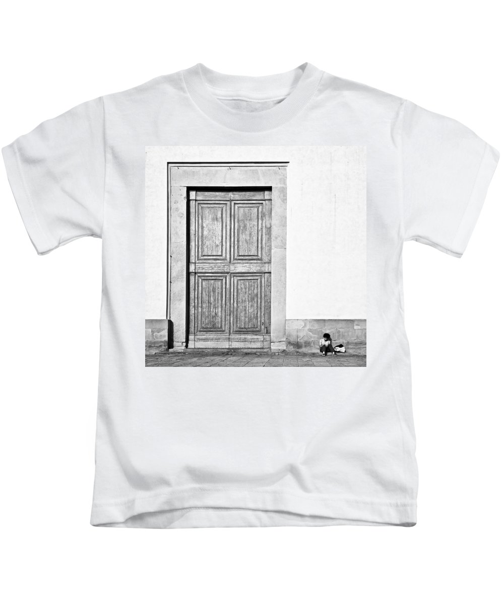 Door Kids T-Shirt featuring the photograph Land Of The Giants by Dave Bowman