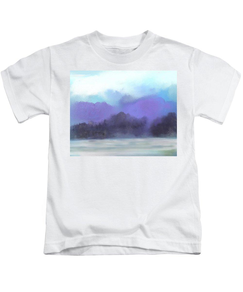 Digital Painting Kids T-Shirt featuring the digital art Landscape 02-19-10 by David Lane