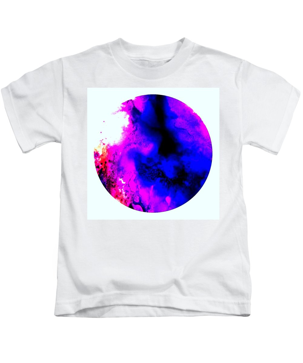Kids T-Shirt featuring the painting Lava Flow by Lisa Marrelli