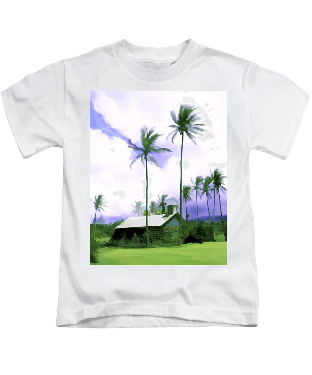 Hawaii Kids T-Shirt featuring the photograph Lava Rock Church by Kurt Van Wagner