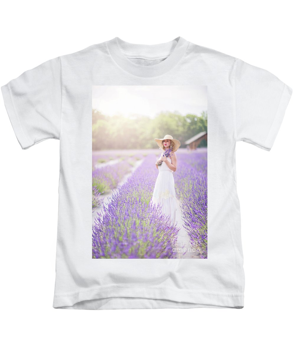 Kremsdorf Kids T-Shirt featuring the photograph Lavender Dreams by Evelina Kremsdorf