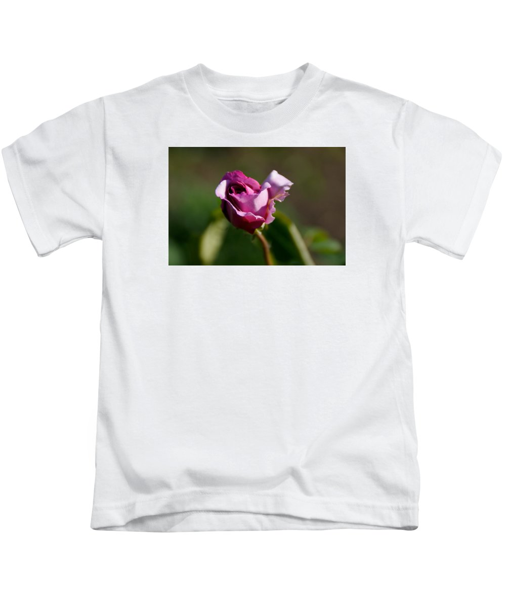 Flower Kids T-Shirt featuring the photograph Lavender Rose by Toni Berry