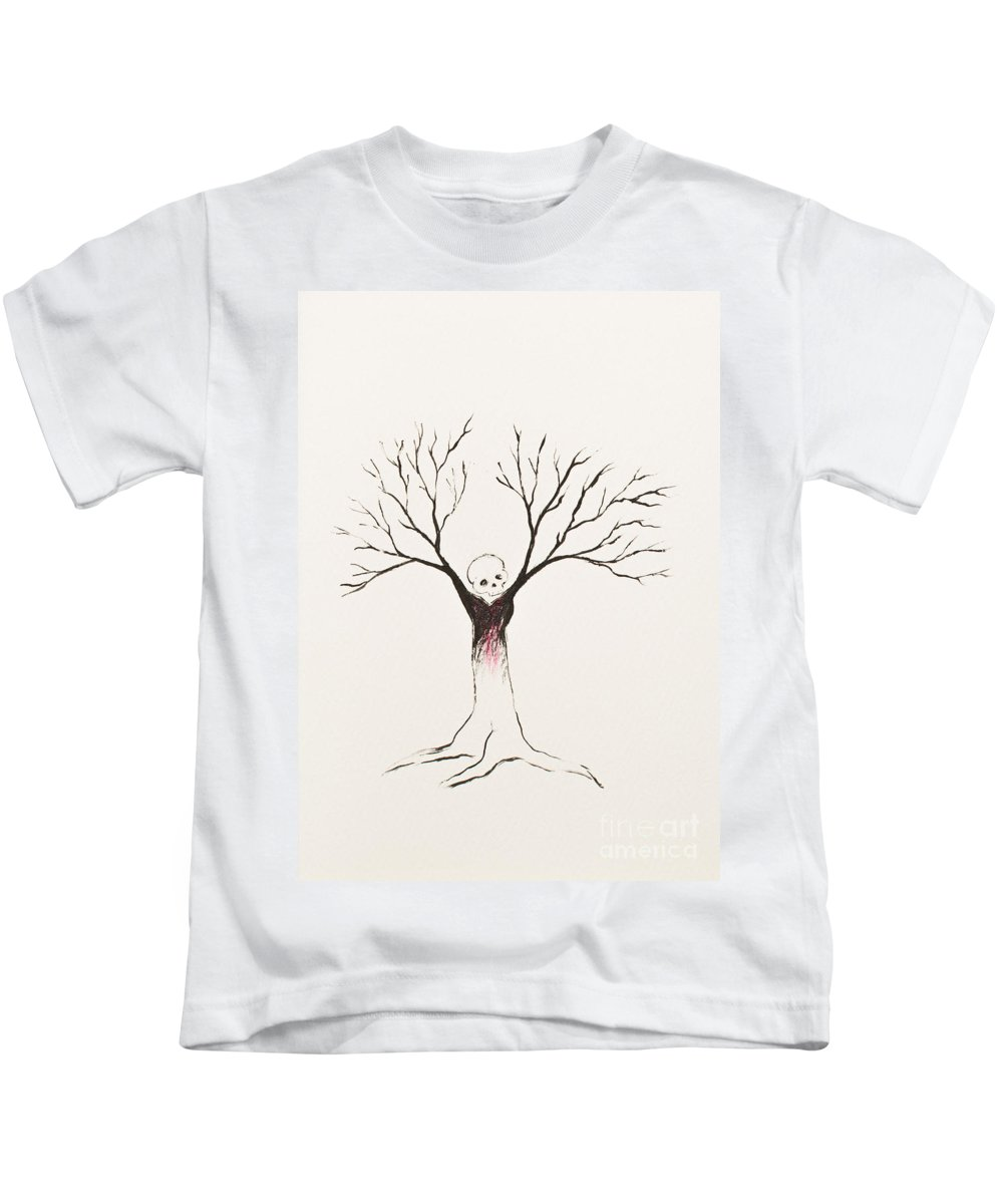 Tree Kids T-Shirt featuring the painting Lavinia by Stefanie Forck