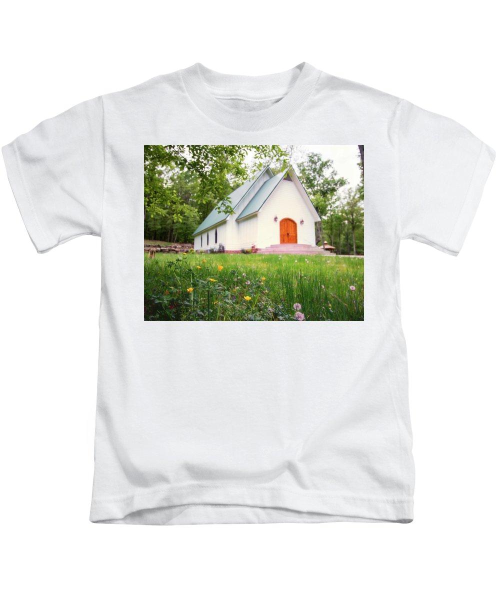 Church Kids T-Shirt featuring the photograph Lazy G Church by Joe Gilbreath