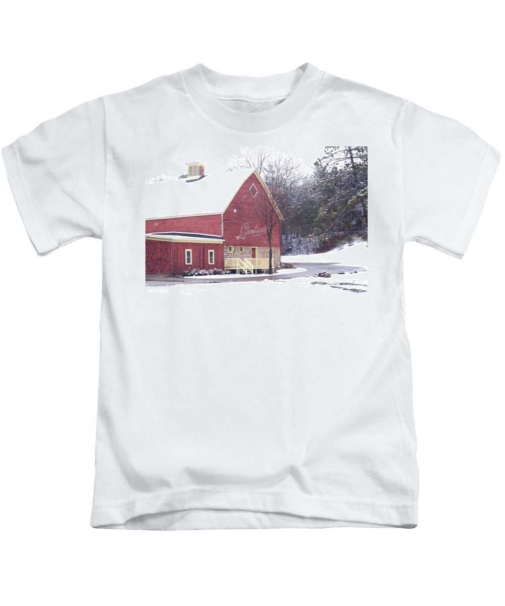 Barn Kids T-Shirt featuring the photograph Leinie by Tim Nyberg
