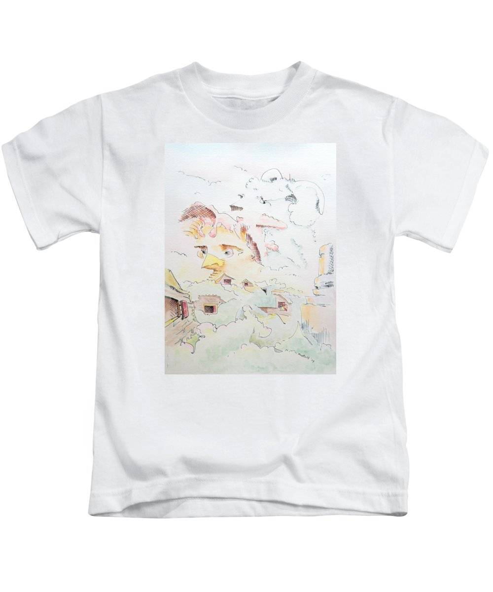 Farm Kids T-Shirt featuring the painting Life On The Farm by Dave Martsolf
