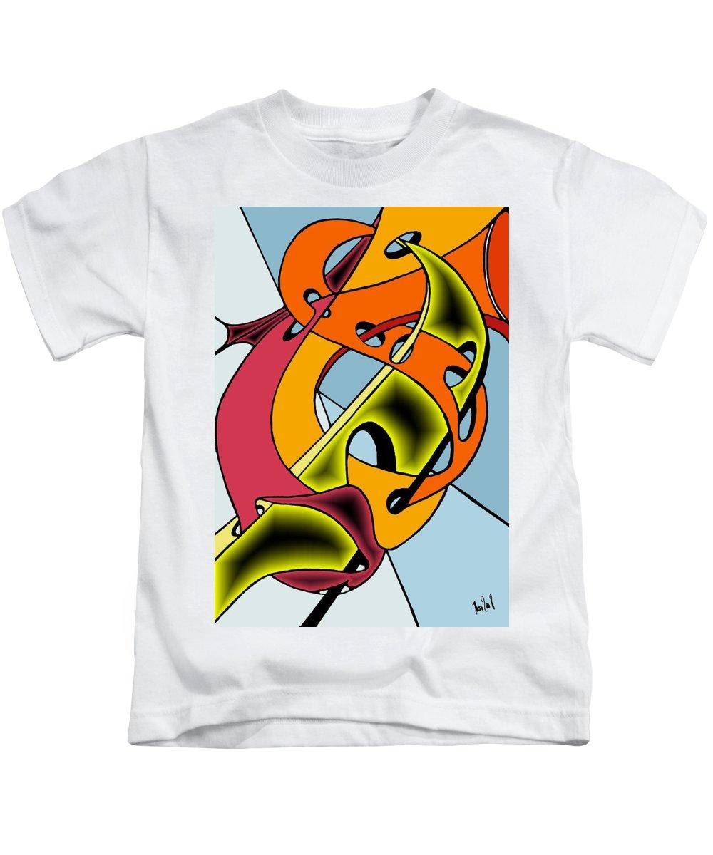 Lifeways Kids T-Shirt featuring the digital art Lifeways by Helmut Rottler