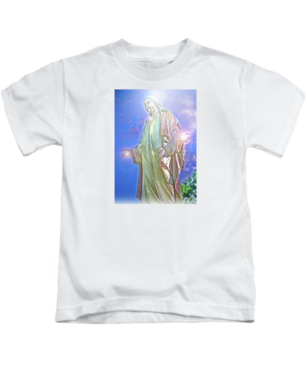 Jesus Kids T-Shirt featuring the photograph Light Of Life by Marie Hicks