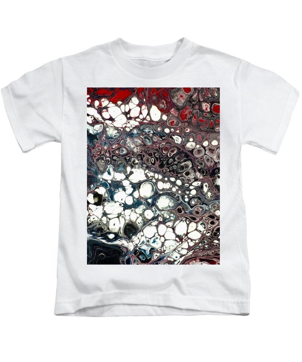 Acrylic Kids T-Shirt featuring the mixed media Light Show by B R Wiatrek