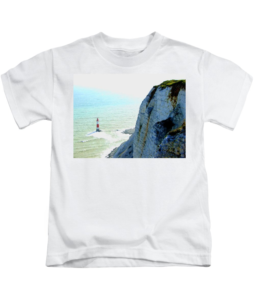 Lighthouse Kids T-Shirt featuring the photograph Lighthouse by Heather Lennox