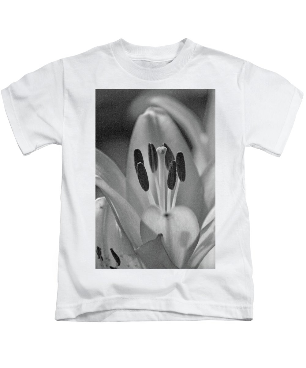 Lily Kids T-Shirt featuring the photograph Lily - American Cheerleader 11 - Bw - Water Paper by Pamela Critchlow