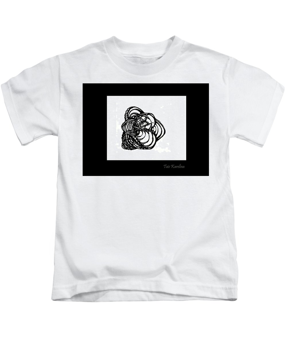 Paper Kids T-Shirt featuring the drawing Lily by Tais Karelina