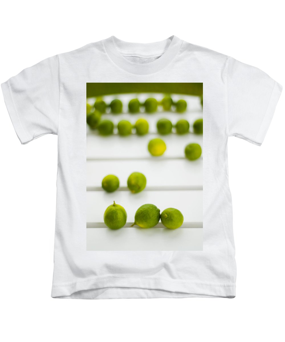 Green Kids T-Shirt featuring the photograph Lime Green by Skip Hunt