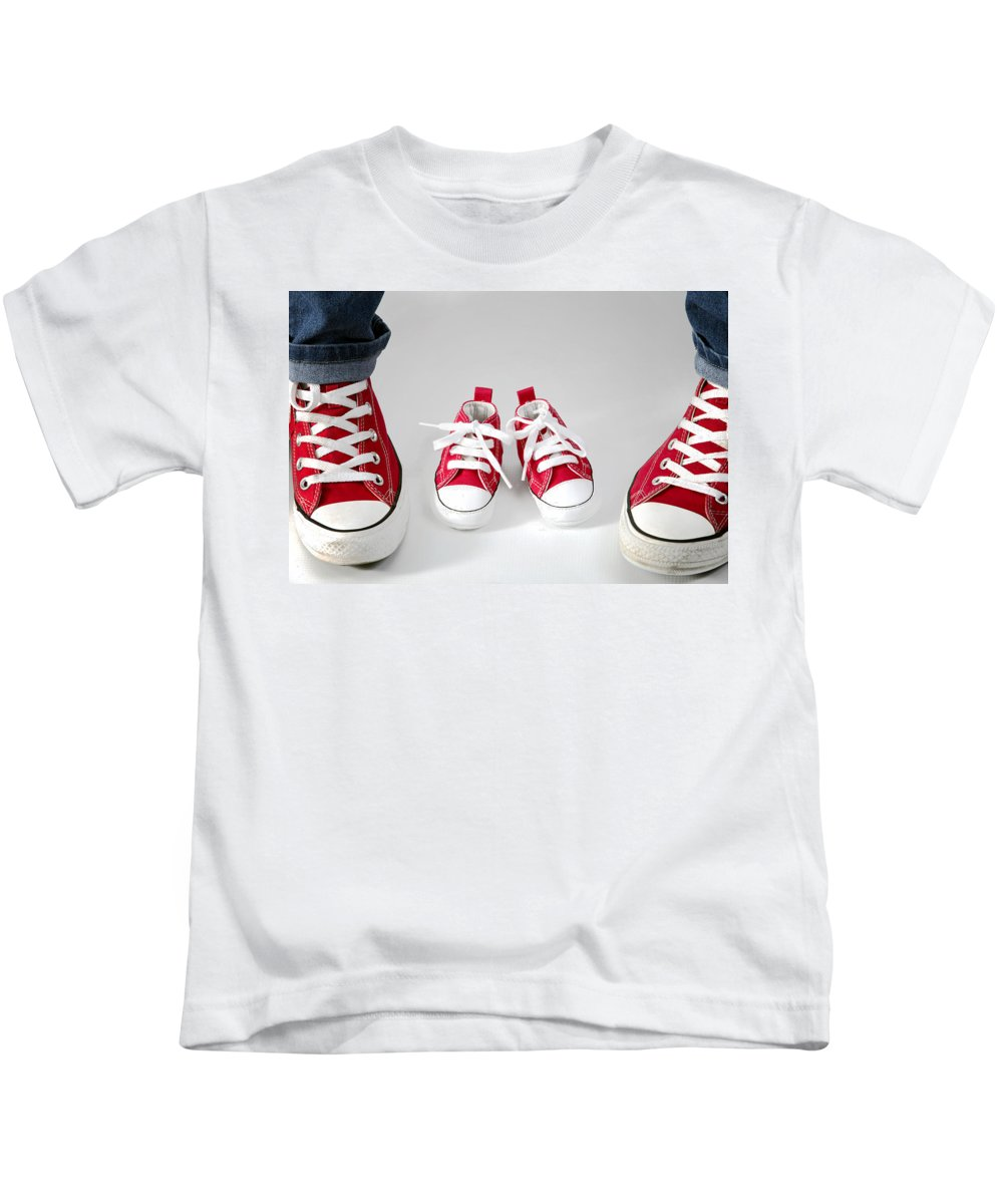 Little Shoes Kids T-Shirt featuring the photograph Little Shoes by Raw Afrika Photography