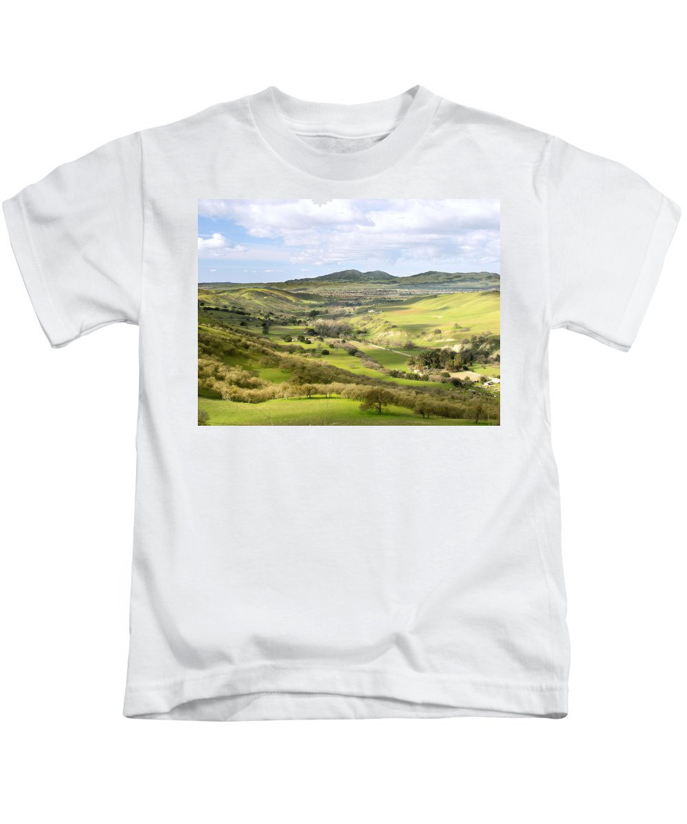 Landscape Kids T-Shirt featuring the photograph Livermore Valley by Karen W Meyer