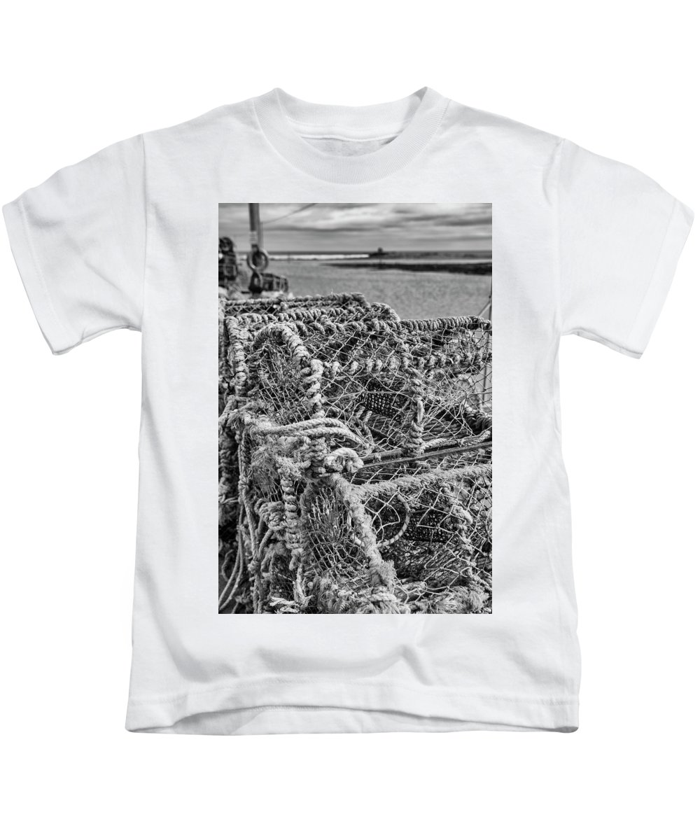 Lobster Kids T-Shirt featuring the photograph Lobster Pots by Paul Cullen