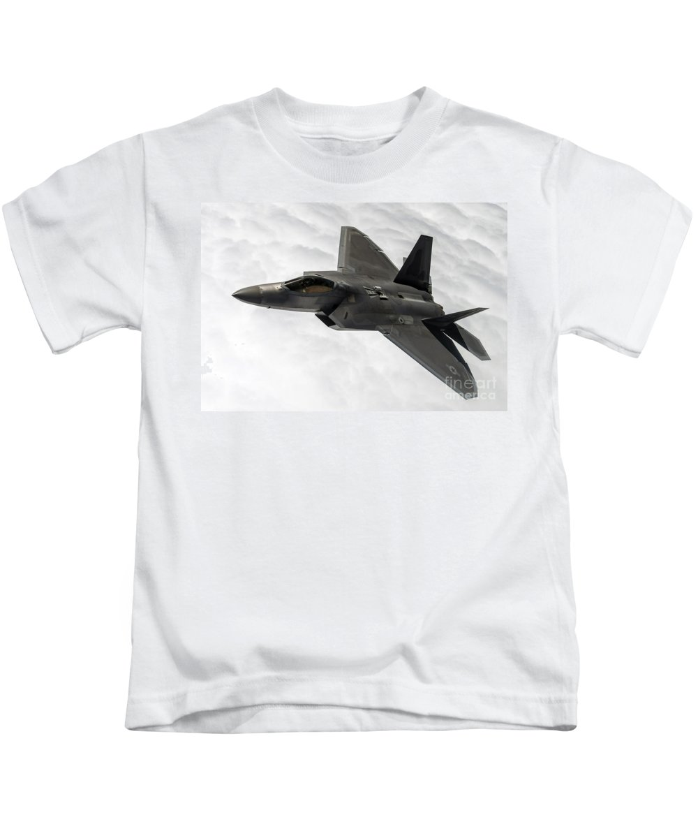 Science Kids T-Shirt featuring the photograph Lockheed Martin F-22 Raptor, 2015 by Science Source