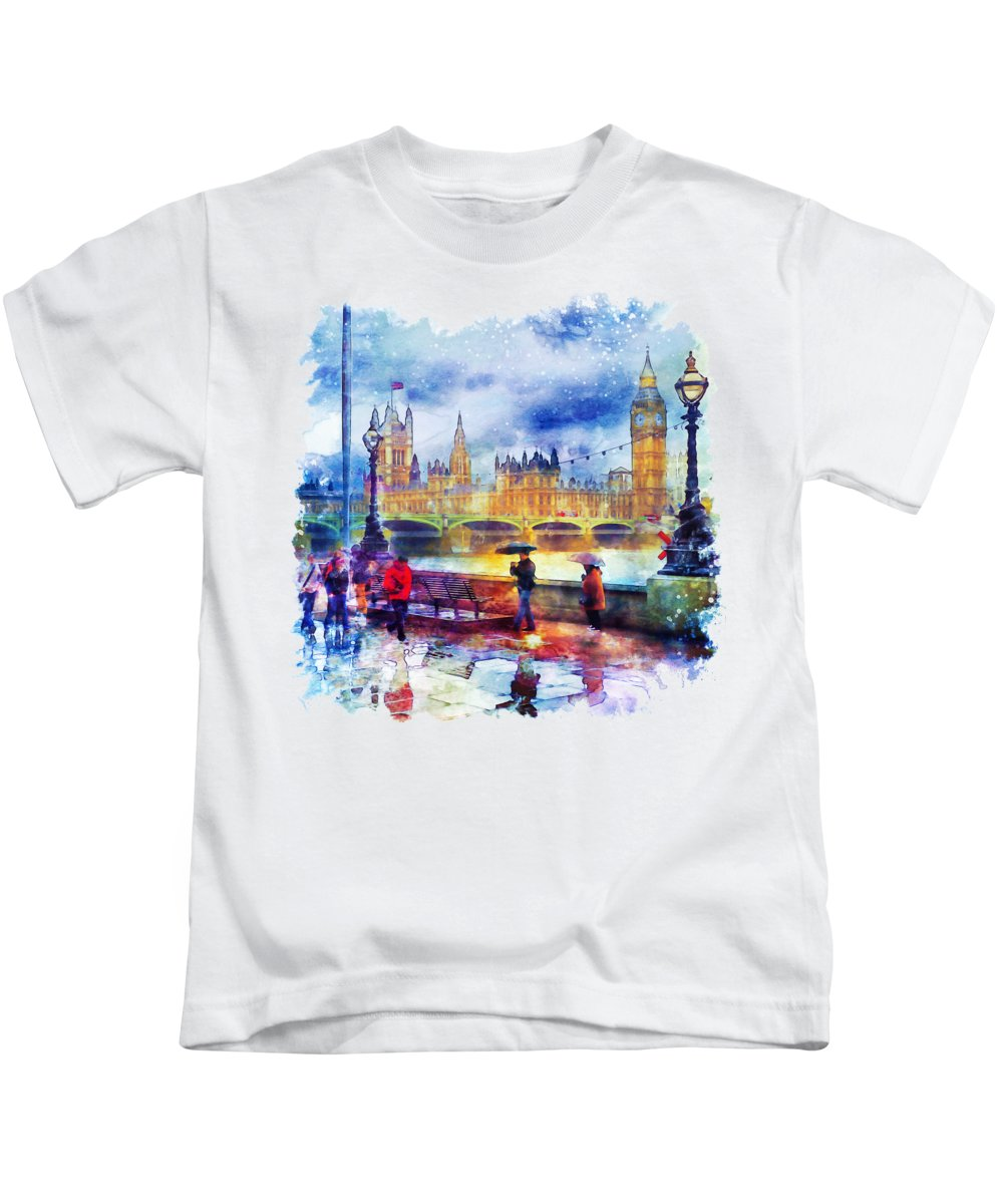 Umbrella Paintings Kids T-Shirts